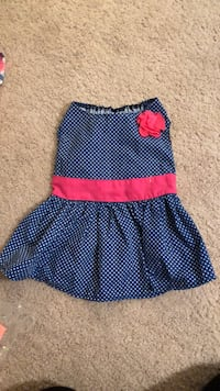 blue and pink sleeveless dog dress 7 km