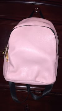 Pink leather backpack  Addison, 60101