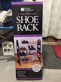 Home Collections 4-tier stackable shoe rack box