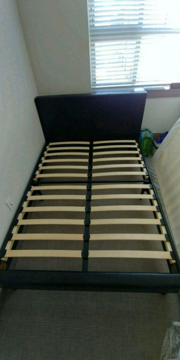 Faux Leather Full size bed frame