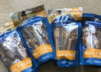 Bully stick all. 4   bags for $20.    These are good deal .  Des Plaines, 60016