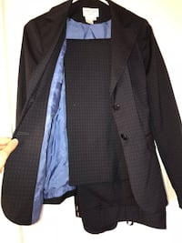 black and gray notch lapel suit jacket New Westminster, V3L