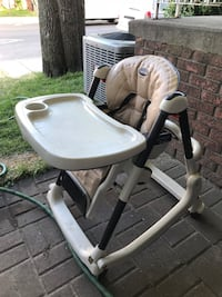baby's white and gray high chair Toronto, M6H 3Y3