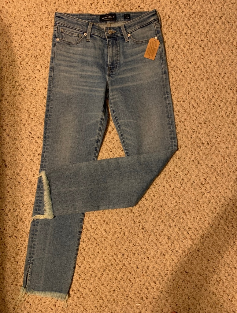 Photo NWT Lucky brand straight jeans size 2/26 $40