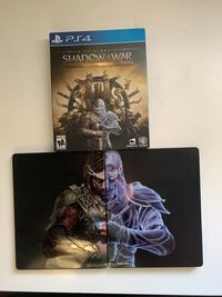 SHADOW OF WAR: GOLD EDITION  METAL DISK CASE Silver Spring, 20910