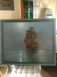 Ship painting by Montage Dawson Farmington, 03835