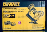 DEWALT 20-Volt MAX XR Lithium-Ion Cordless 18-Gauge Flooring Stapler with Battery 4Ah, Charger and Contractor Bag Model # DCN682M1 Concord, 94521