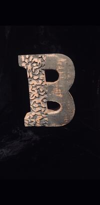 Carved Wood Initial B Bear, 19701