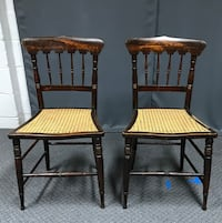 CHAIR SET: Nice Caned-Seat Chairs