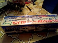Toy truck and helicopter