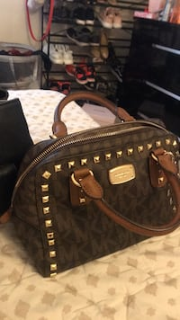 brown and black leather Michael Kors backpack Silver Spring, 20903