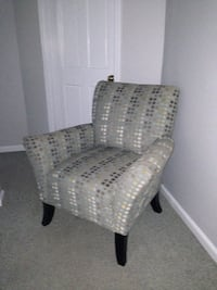 Modern accent upholstered club chair - gray, mint, white  Teaneck