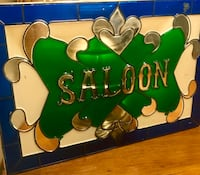 """15"""" x 10"""" stained glass hanging wall decor Saloon sign picture Glendale, 85302"""