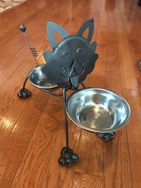 Pewter Cat Bowl Stand Chantilly, 20152