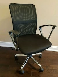black leather office rolling armchair Mississauga, L5N