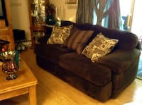 BROWN MICROFIBER COUCH WITH 3 DECORA FOTOR PILLOWS Federal Way, 98023