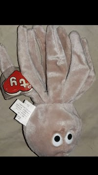 """1993 beanie baby """"inky""""/no mouth"""