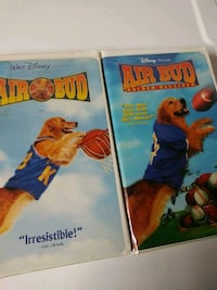 Air Bud and Air Bud Golden Retriever vhs tapes