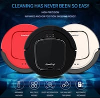 ISWEEP S550 Robot Vacuum Cleaner Auto Smart Home Appliances With Infrared Remote Control Self Charging Dry Wet Multiple Modes Bakersfield, 93313