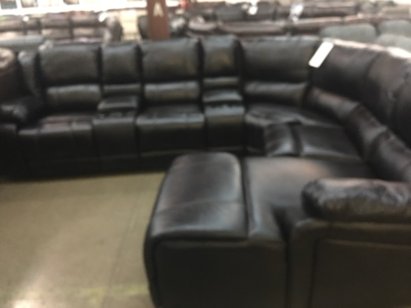 Gebrauchte Polished Microfiber Reclining Sectional With Chaise