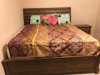 King Size Solid Wood Bed Sterling