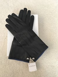 Coach Women's Black Lleather Gloves New With Tags Size 8 Frederick