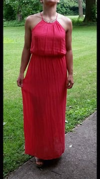 Maxi Dress - Bright Coral, Size Large South Bend, 46628