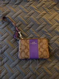 Purple/Beige Coach Wristlet  Fairfax, 22032