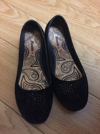 Suede Black Bata Ballet Flats - Great condition! Only worn once.  Toronto, M4C 5C6