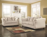 tufted gray fabric sofa set Worthington, 43229