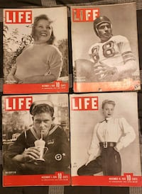Life Magazines from Oct 1, 1945 to Nov 19, 1945 Catonsville, 21228