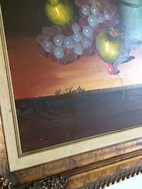 brown wooden framed painting of fruits Laval, H7N
