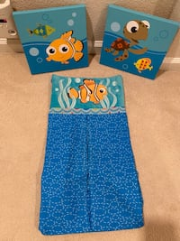 Finding Nemo Wall art & diaper holder