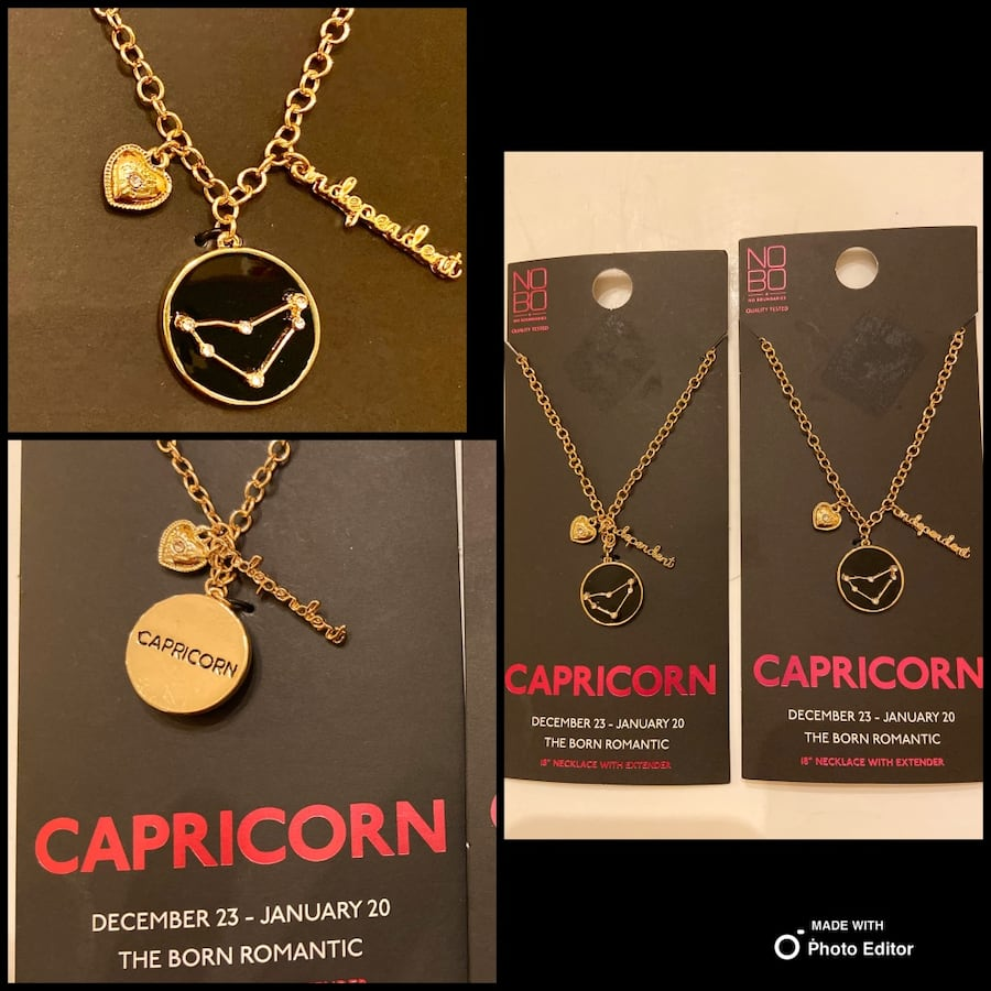 """NEW """"Capricorn"""" 2 Sided Zodiac Necklaces-$10 Each OR $15 Both"""