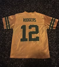 yellow Rodgers 12 jersey shirt