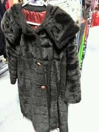 Black button-up fur coat Toronto, M6A 2M3