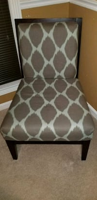 white and brown floral padded chair Laurel, 20724