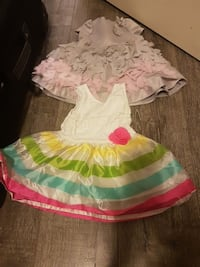 two pink and white tank dresses Coquitlam, V3E 1C2