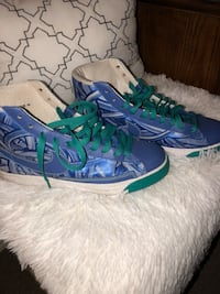 pair of blue-and-green Nike basketball shoes Milpitas, 95035