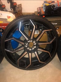 5 lug universal 22 in starr 308 rims for sale price is negotiable  Chester, 23831