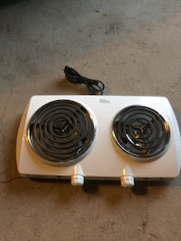 Gray 2-coil electric stove