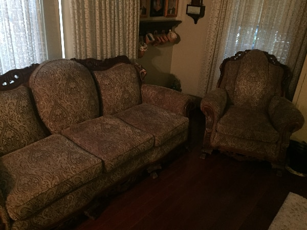 Antique couch and chair  5e4d2847-09ca-4439-be97-5954faff7d04