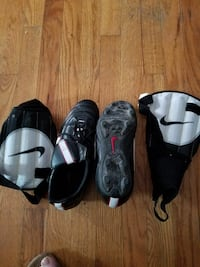 tiempo soccer shoes and shinguards