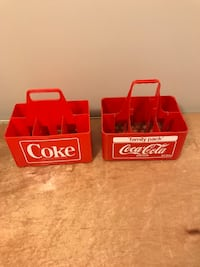 Coke plastic carrying case  $10 each