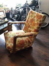 brown and red floral padded armchair Fort Worth, 76107