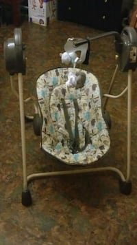 white and blue floral swing chair Reading