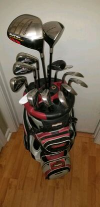 black and red golf bag with golf clubs Chesapeake, 23323