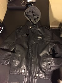 Black faux leather jacket  Edmonton, T5Z