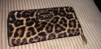 black and brown leopard print leather wristlet Vallejo, 94591