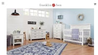 Emory Farmhouse 4-in-1 Convertible Crib and Dresser in Linen White  Brampton, L7A 3B2